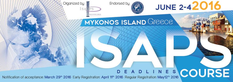 Σεμινάριο της ISAPS στη Μύκονο, 2-4 Ιουνίου 2016